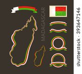 outline map of madagascar.... | Shutterstock .eps vector #393647146
