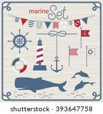 sea design elements  vector set | Shutterstock .eps vector #393647758