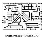 circuit board pattern   Shutterstock .eps vector #39365677