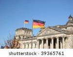 german parliament reichstag in...