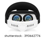 back view of vr virtual reality ... | Shutterstock . vector #393662776