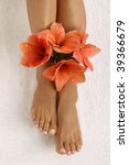 pedicured feet with beautiful... | Shutterstock . vector #39366679