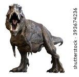 tyrannosaurus rex 3d render. | Shutterstock . vector #393674236