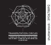 transmutation circles  ... | Shutterstock .eps vector #393678892