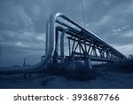 oil pipeline  the oil industry... | Shutterstock . vector #393687766