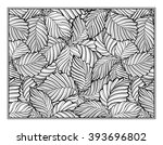 floral decorative ornamental... | Shutterstock .eps vector #393696802