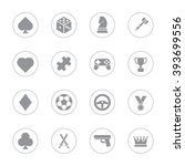 gray flat game icon set with...
