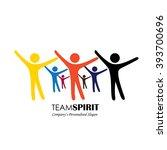 team   teamwork  excited...   Shutterstock .eps vector #393700696