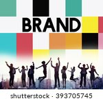 brand branding marketing... | Shutterstock . vector #393705745