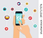 internet of things concept.... | Shutterstock .eps vector #393717376