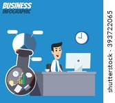 business infographic  ... | Shutterstock .eps vector #393722065
