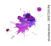 expressive watercolor spot... | Shutterstock .eps vector #393729196