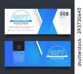 gift voucher premier color | Shutterstock .eps vector #393730645