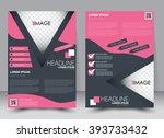 abstract flyer design... | Shutterstock .eps vector #393733432