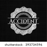 accident chalk emblem | Shutterstock .eps vector #393734596