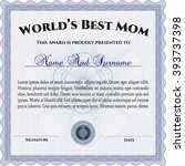 best mom award. border  frame.... | Shutterstock .eps vector #393737398