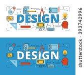 design lettering flat line... | Shutterstock .eps vector #393742996