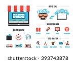 online shop infographic ... | Shutterstock .eps vector #393743878
