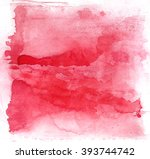 abstract pink watercolor hand... | Shutterstock . vector #393744742