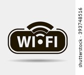 wifi black icon concept logo or ... | Shutterstock .eps vector #393748516