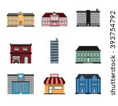 building vector. icons... | Shutterstock .eps vector #393754792