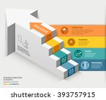 3d business staircase diagram... | Shutterstock .eps vector #393757915