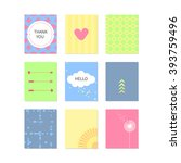 set of vector abstract colorful ... | Shutterstock .eps vector #393759496