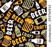 craft beer brewery seamless...   Shutterstock .eps vector #393760915