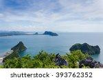 sea views prachuap bay on a... | Shutterstock . vector #393762352