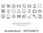 abstract vector collection of... | Shutterstock .eps vector #393764872