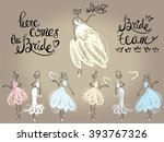 fashion attractive wedding... | Shutterstock .eps vector #393767326