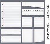 blank white lined paper ... | Shutterstock .eps vector #393769732