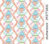 dark color navajo ethnic ... | Shutterstock .eps vector #393771832