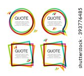 vector set quote frame with... | Shutterstock .eps vector #393776485