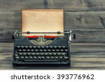 antique typewriter with grungy... | Shutterstock . vector #393776962