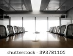 modern table boardroom with... | Shutterstock . vector #393781105