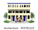housing for two generations and ... | Shutterstock . vector #393781222