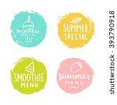 set of badges. smoothie  summer ... | Shutterstock .eps vector #393790918