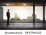back view of successful manager ... | Shutterstock . vector #393796102