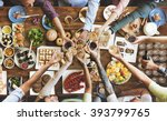 friends happiness enjoying... | Shutterstock . vector #393799765