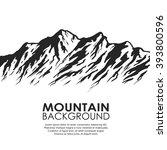 mountain range silhouette...   Shutterstock .eps vector #393800596