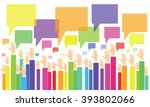 business vote.business opinion... | Shutterstock .eps vector #393802066