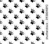 traces of cat textile pattern.... | Shutterstock .eps vector #393804892