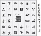 simple hotel icons set.... | Shutterstock .eps vector #393808978