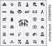 simple insurance icons set....