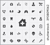 simple medical icons set.... | Shutterstock .eps vector #393809062