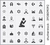 Simple Religion Icons Set....