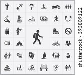 simple lifestyle icons set.... | Shutterstock .eps vector #393809122