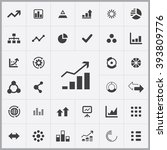 simple infographics icons set.... | Shutterstock .eps vector #393809776