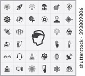 simple innovation icons set.... | Shutterstock .eps vector #393809806